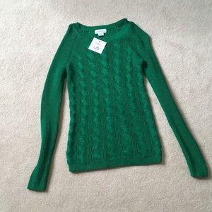 Green sweater. Never worn before!